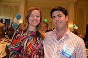 40 Under 40 winner and French West Vaughan employee Arik Abel, right, along with his fiancee.