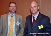 Accentuate Staffing's Mike Morgan and Grubb & Ellis' Jack Graham attended the event.
