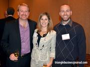 Employees from Fast 50 winner ShareFile take time out to pose for the camera. From left to right: Nate Spilker, Leia Stallings and Ryan Little.