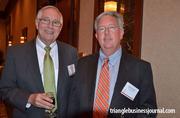 John Wilson and Rocky Springer with Southern Industrial Constructors mingle at the event.