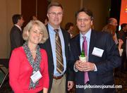 LoneSource's Lucille Sossaman, Alex Sossaman and David Ryan mingle at the event.
