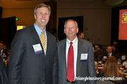 Fast 50 winners Jim Petrilla with BioAgilytix Labs and Professional Builders Supply's Steve Lochbaum stop for a photo.