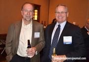 TrialCard's Charles Reuben and Fred Cunningham mingle at the event.