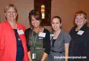 William Peace University, one of the sponsors for this year's Fast 50, was represented by Laurie Albert, Amber Stenbeck, Anna Burelli and Vea Carabine (left to right).