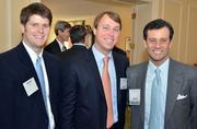 The event's attendees included (from left) Ryan Gaylord of Tri Properties, Heath Chapman of CBRE-Raleigh, and Greg Sanchez of Tri Properties.