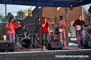 The Morning After kicks off their performance at the NC Beer & Band Festival.