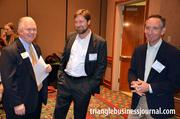 Briant Sikorski, Kurt Bland and Roger Beale (left to right) share a laugh at the Green Expo.