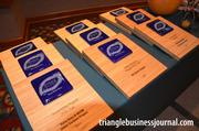 Here's a look at the plaques for the 2011 Triangle Business Journal Green Awards.