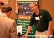 Neal Hogan with Metech Recycling was just one of the many exhibitors at this year's Green Expo.