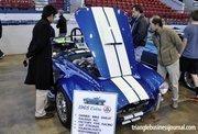 Dozens of classic cars were displayed inside Dorton Arena, including this classic – a 1965 Cobra.