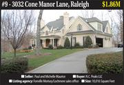 Home features: This is the former home of Paul Maurice who served as head coach of the NHL Carolina Hurricanes from 1995 to 2003 and again from 2008 to 2011. Built in 2007, the five-bedroom home in the gated Linville community has 10,016 square feet in living space and features five decorative fireplaces, a marble entryway, a fitness center and recreation room, a walk-through pantry, two laundry rooms and a professional-style kitchen.