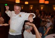 During the chef introductions, Chef Shane Ingram has fun giving the patrons high fives.