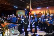 The Athens Drive High School band performs during one of the breaks during the live auction.