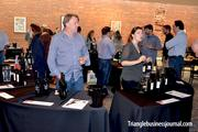 Owner and winemaker Sean Larkin (left) had his Cab Franc and Sauvignon, which is distributed in N.C. by Juice Wine Purveyors, available for tasting. The Cab Franc retails for about $65 a bottle.