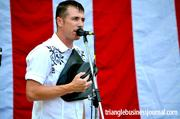 Jamie Buckley performed The National Anthem at the Salute the Troops event at the Koka Booth Amphitheatre.
