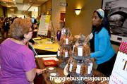 Tonya Council with Tonya's Cookies served up some samples during Triangle Business Journal's Women in Business event.