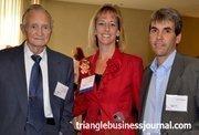 James Black, left, and Jeff Dubis were on hand to support Women in Business winner Melanie Black Dubis.