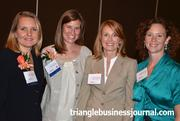 From left to right, WIB winners Iona Thomas and Kristen Hess mingle with Mary Heath and Evelyn Contre.