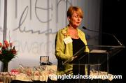 Mary Cantando with The Woman's Advantage addresses the crowd at Triangle Business Journal's Women in Business Awards.