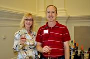 Gina Richardson and Terry Bray sample a Rosé from Charles & Charles Vineyards.