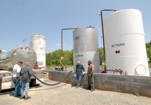 A new biofuels plant is being built in Sampson County.