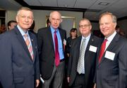 Wake County Commission Chairman Joe Bryan, left, along with Bob Luddy, Frank Eagles and Keith Weatherly.
