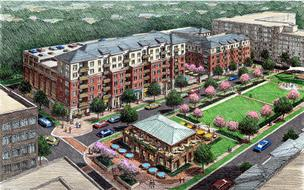The Midtown Green North Hills apartment project is expected to open in the spring of 2014.