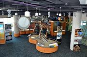 A quick view of the third level of the museum that houses a juvenile T. Rex.