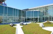 On the top of the fourth level lies the green roof at the Natural Research Center.