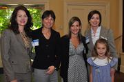 """40 Under 40 Winner Laura Hulsey, far right, of RBC Bank and her """"posse"""" (left to right) Sharon Bagwell, Suzanne Griffin, Shannon Waters and her daughter Stewart Hulsey."""