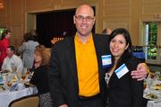 Winner Kyle May of SciMetrika and his wife, Monica.