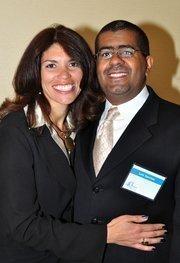 40 Under 40 winner Ingrid Sanchez and her husband Luis.