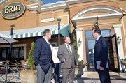 Adam Abram had lunch at Brio with Gregg Davis (left) and Steve Hartman (center).