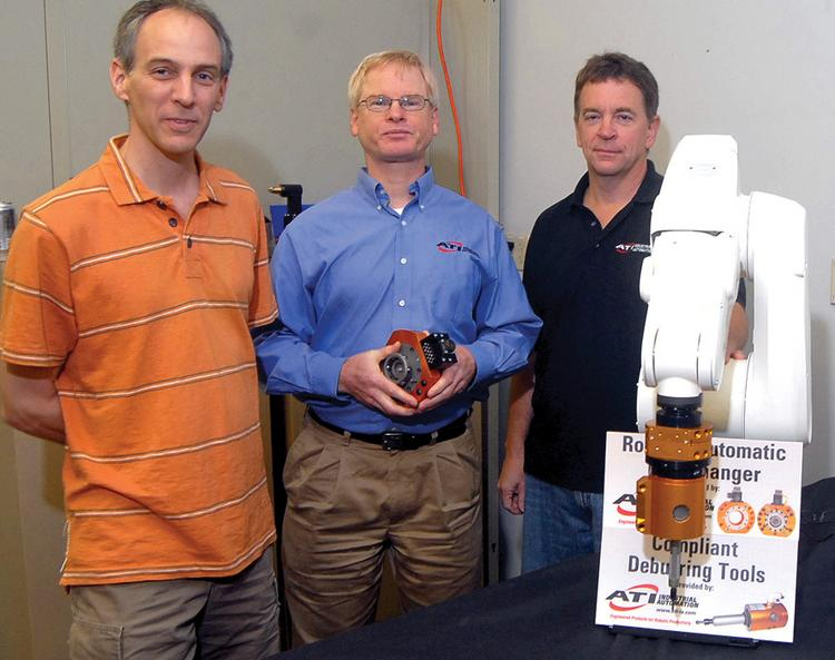 From left, Dwayne Perry, Robert Little and Keith Morris with ATI Industrial Automation in Apex.