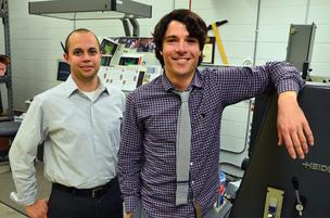 Shawn Gibbs, left, of Laser Image has now partnered with Bound Inc. and its CEO, Joel Sadler.