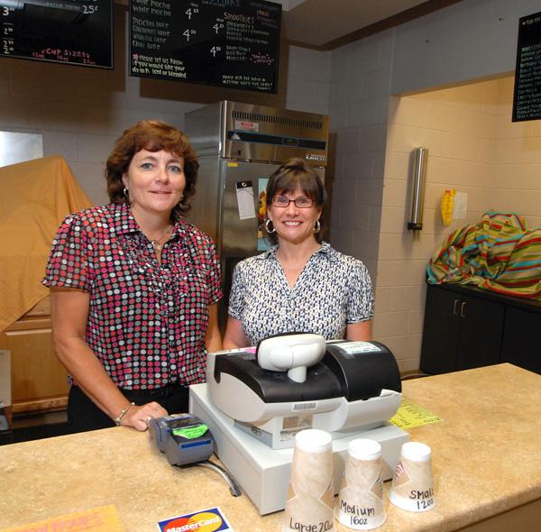 Debra Wallace, left, and Pamela Brown will continue to oversee Wake Tech's food operations.