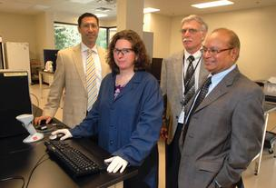 From left, ILS's Sam Tetlow, Leane Woody, Thomas Goldsworthy and founder Thomas K. Rao.
