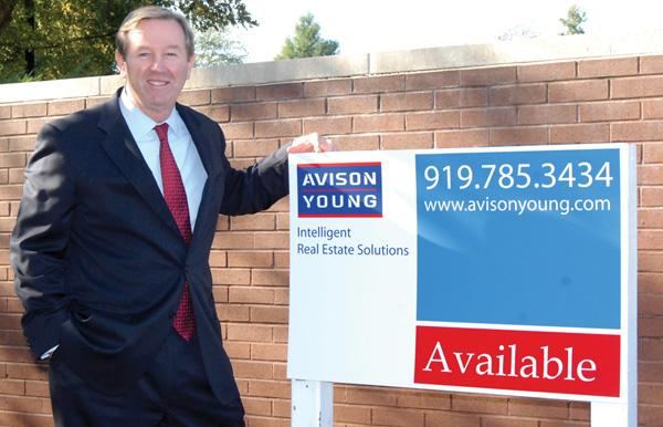 John Linderman shows the new brand, Avison Young.