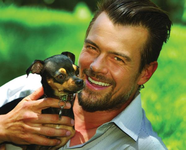 Josh Duhamel is working on a film in Southport.