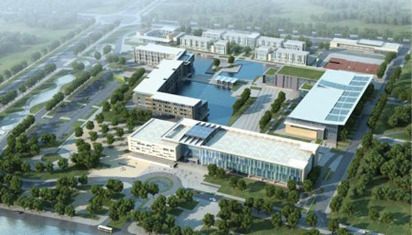 Rendering of Duke's campus in China.
