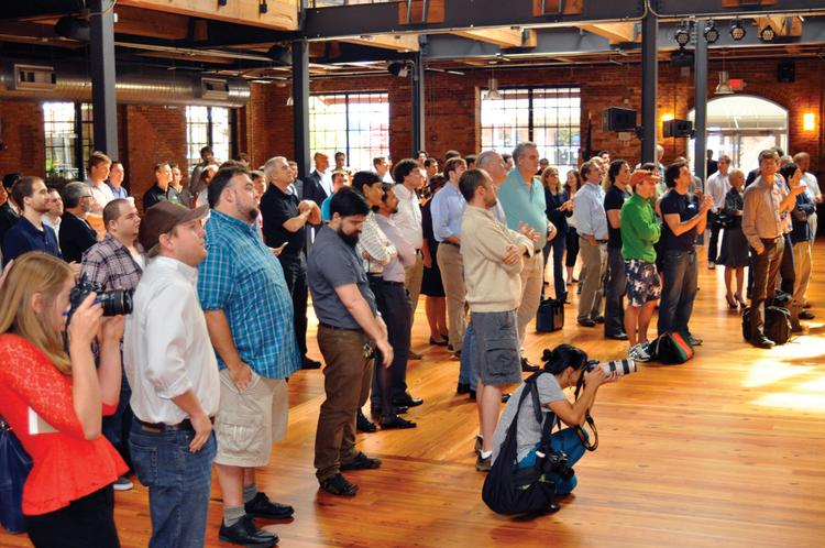 A crowd turned out to hear that Durham's American Underground was selected as one of seven Goodle Tech Hubs. Other cities selected for Google's network include Minneapolis, Chicago, Detroit, Denver, Nashville and Waterloo.