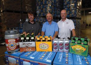 From left, Chip, Joe and Jeff Mims continue the family business in new Raleigh distribution facility.