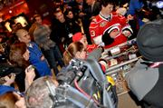 Fans flock in line for a chance to get an autograph by Carolina Hurricane's phenom, Jeff Skinner.