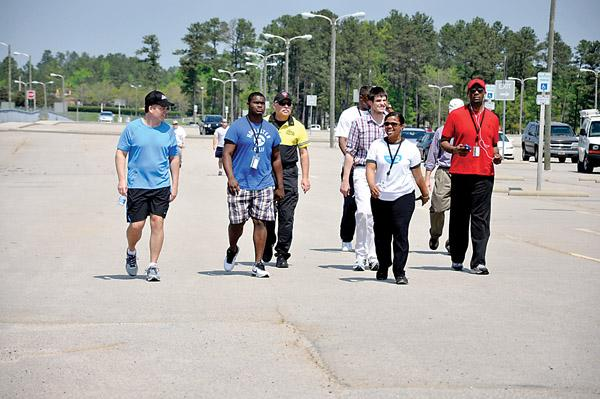 RDU employees work together, exercise together.