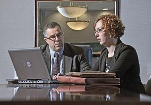 At Knapek Gabriele & Bottini LLP, CPAs Larry Knapek and Sarah Van Buren talk shop.