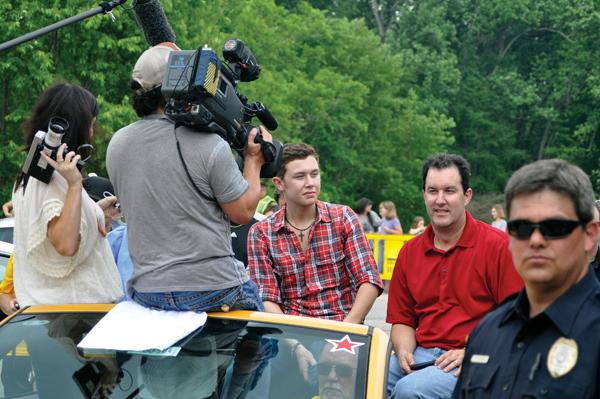 Scotty McCreery during his homecoming visit.