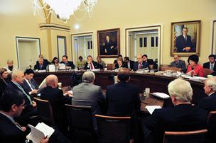 U.S. House of Representatives meets at the U.S. Capitol to discuss the health care reform last year.