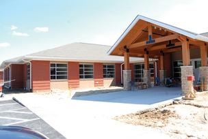 Work heads toward completion on Strategic Behavioral Center's Garner facility.