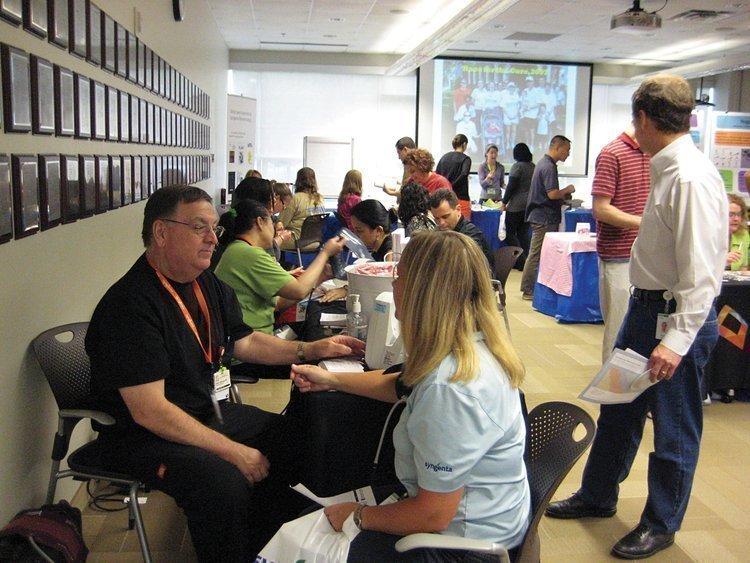 Syngenta holds a health fair at its RTP facility.