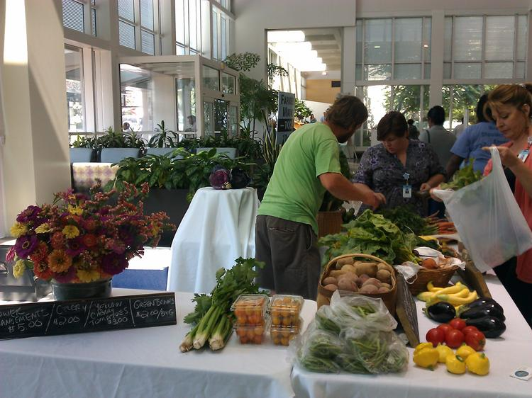 UNC offers s a weekly indoor farmers market.